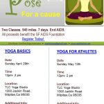 POSE for a cause: Donation based yoga classes!